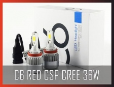 C6 RED CSP CREE 36W 3800LM